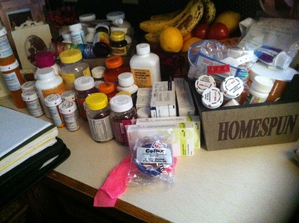 My Personal Pharmacy (31 pills and vitamins at one point)